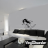 Nude Woman Looking Up Decal