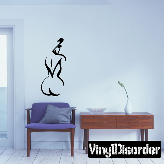 Tribal Outlined Woman Decal