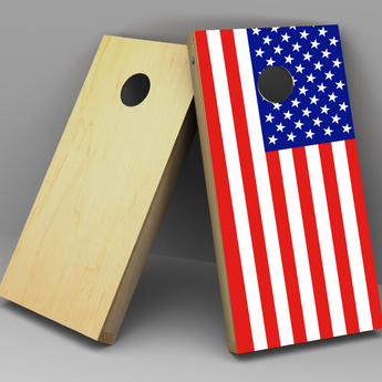 World Flag Cornhole boards
