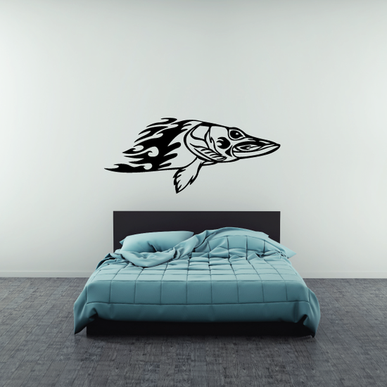 Flame Body Bass Decal