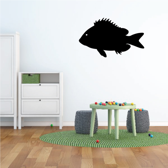 Small Mouth Bass Fish Swimming Decal