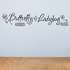 Butterfly kisses and lady bug hugs Wall Decal