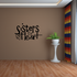 Sisters by heart Wall Decal