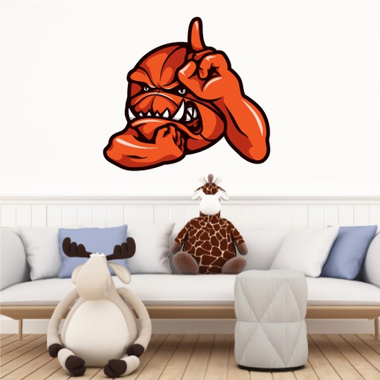 Number 1 Basketball Wall Decal - Vinyl Car Sticker - Uscolor003