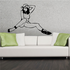 Nude Woman in Heels and Cowboy Hat Decal