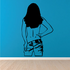 Topless Woman Removing Jean Shorts Decal