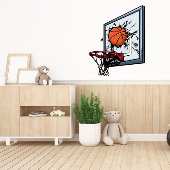 Basketball Broken Headboard Sticker