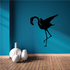 Stretching Flamingo Silhouette Decal