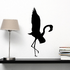 Flapping Flamingo Silhouette Decal