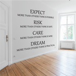 Custom Wall Quote Vinyl Decal