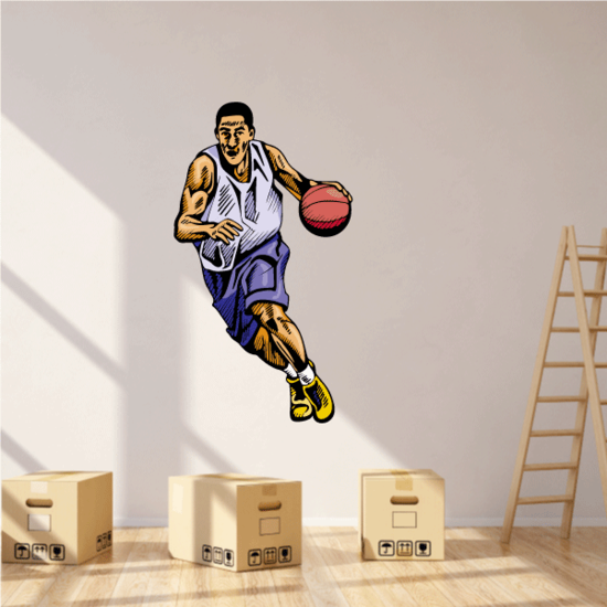 Basketball Wall Decal - Vinyl Sticker - Car Sticker - Die Cut Sticker - CDScolor049