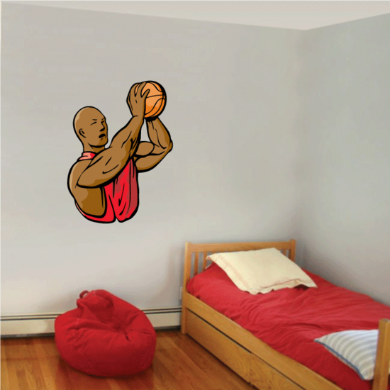 Basketball Wall Decal - Vinyl Sticker - Car Sticker - Die Cut Sticker - CDScolor079
