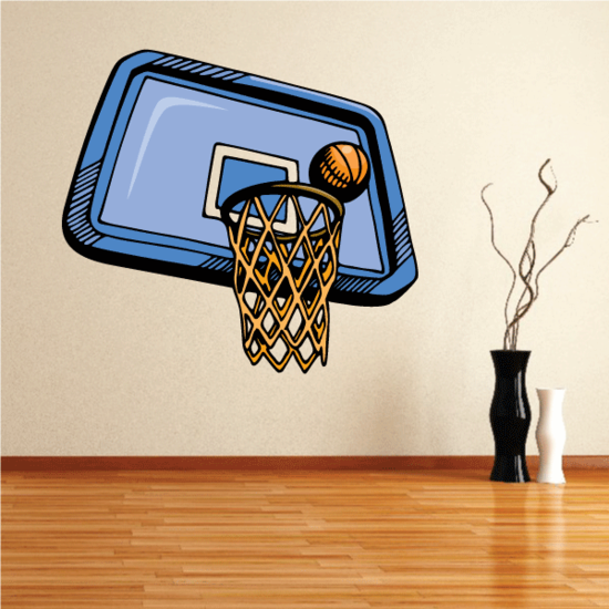 Basketball Wall Decal - Vinyl Sticker - Car Sticker - Die Cut Sticker - CDScolor085