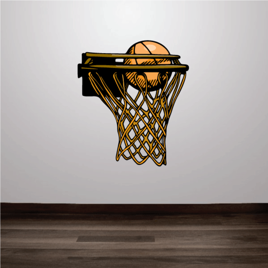 Basketball Wall Decal - Vinyl Sticker - Car Sticker - Die Cut Sticker - CDScolor086