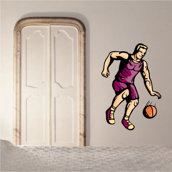 Basketball Wall Decal - Vinyl Sticker - Car Sticker - Die Cut Sticker - CDScolor091