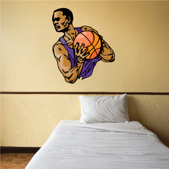 Basketball Wall Decal - Vinyl Sticker - Car Sticker - Die Cut Sticker - CDScolor100