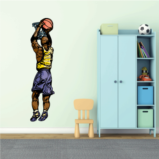 Basketball Wall Decal - Vinyl Sticker - Car Sticker - Die Cut Sticker - CDScolor123