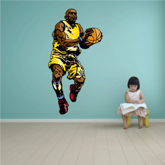 Basketball Wall Decal - Vinyl Sticker - Car Sticker - Die Cut Sticker - CDScolor130