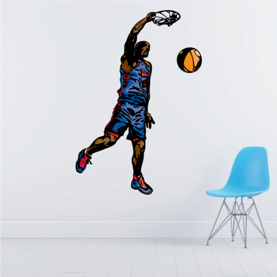 Basketball Wall Decal - Vinyl Sticker - Car Sticker - Die Cut Sticker - CDScolor132