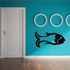 Minimalist Goldfish Decal