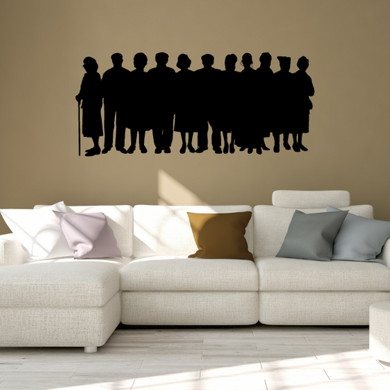 Group of People in line Decal