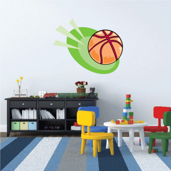 Basketball Wall Decal - Vinyl Sticker - Car Sticker - Die Cut Sticker - CDScolor177