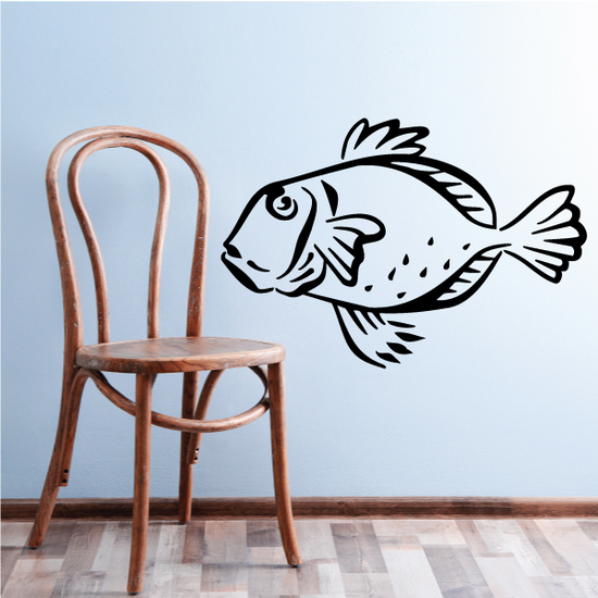 Brush Stroke Style Bluegill Decal