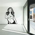 Topless Woman Covering Decal