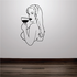 Drinking Woman Decal