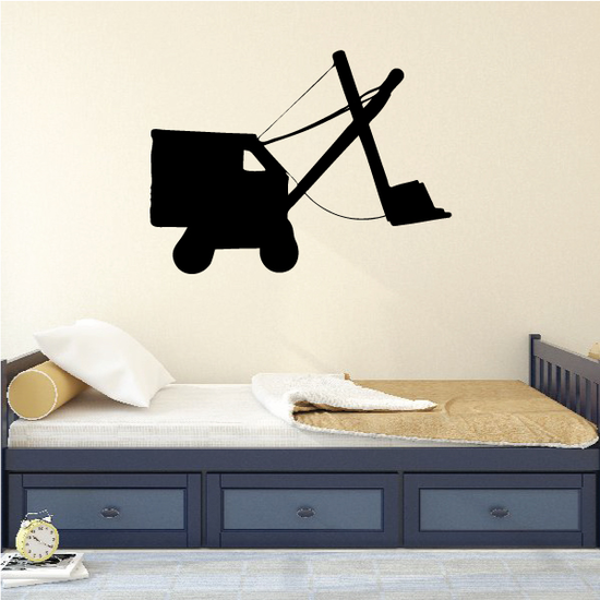 Old Fashioned Excavator Decal