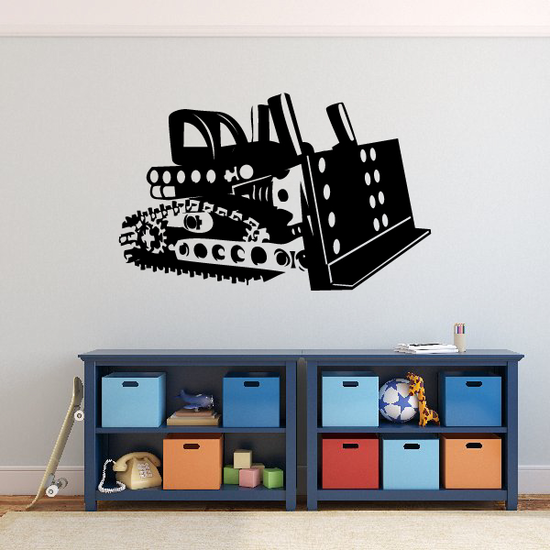 Constructed Bulldozer Decal