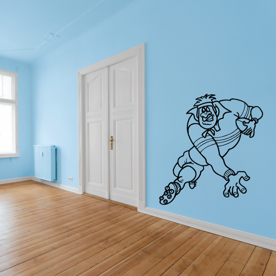 Rugby Player Decal