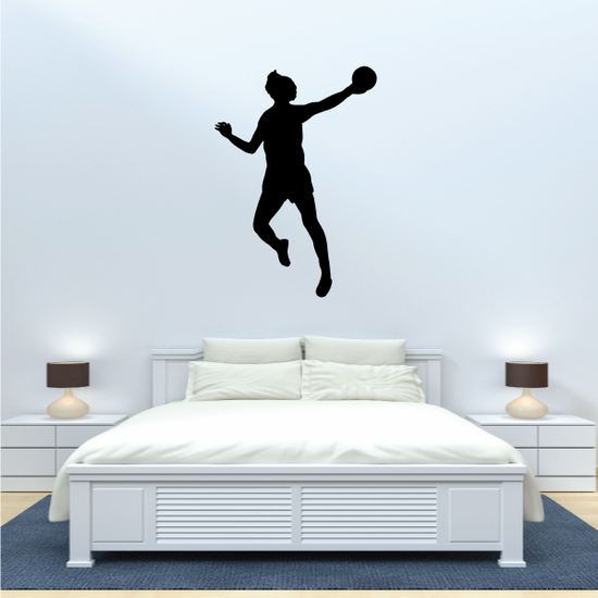 Rugby Throw Jump Silhouette Decal