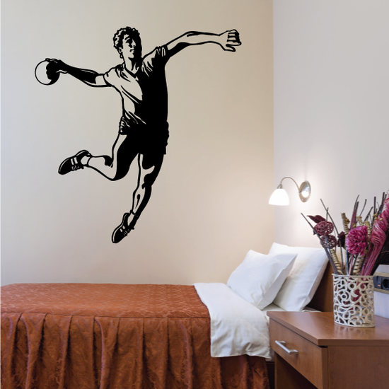 Rugby Player Throw Decal