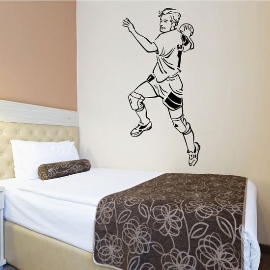 Rugby Turning Throw Decal