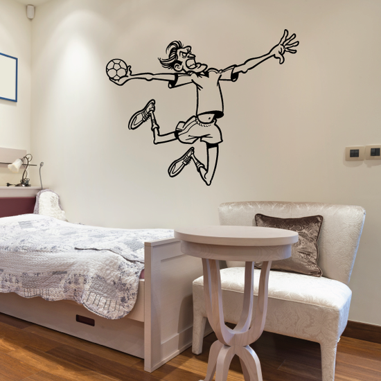 Cartoon Rugby Player Decal
