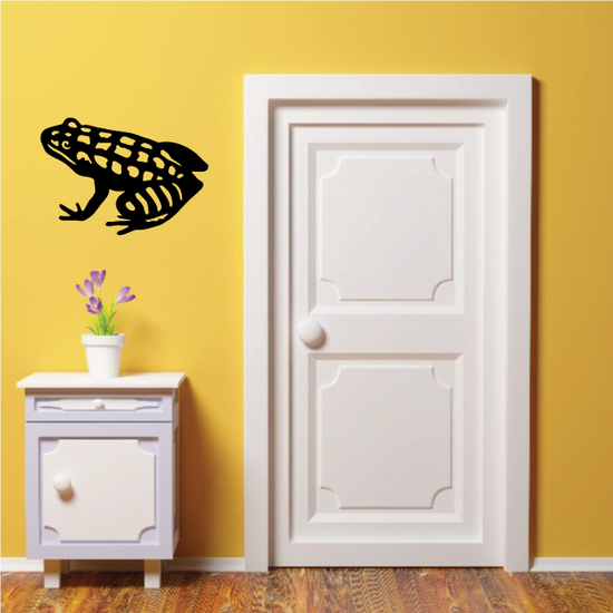 Patterned Sitting Frog Decal