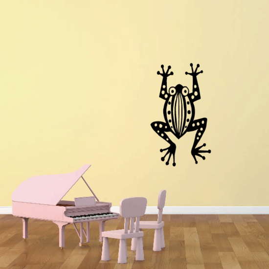 Patterned Art Frog Decal