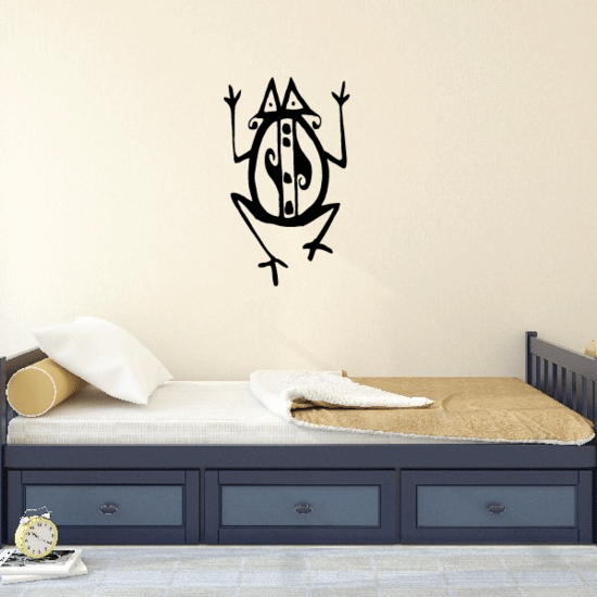 Abstract Tribal Design Frog Decal