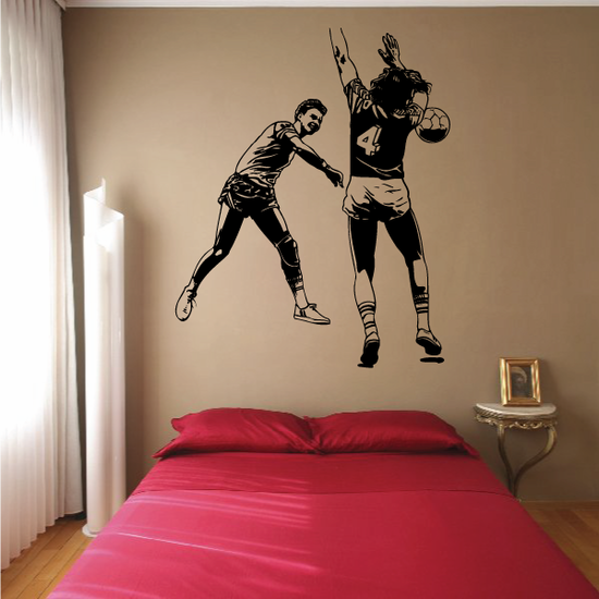 Rugby Two Players Decal