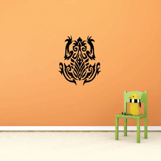 Intricate Tribal Frog Decal