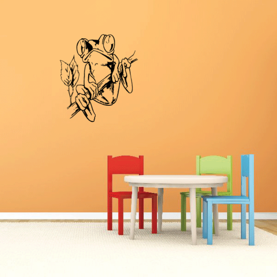 Watching Tree Frog on Branch Decal