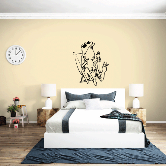 Frog on Vacation Decals