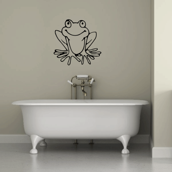 Happy Frog SItting Decal