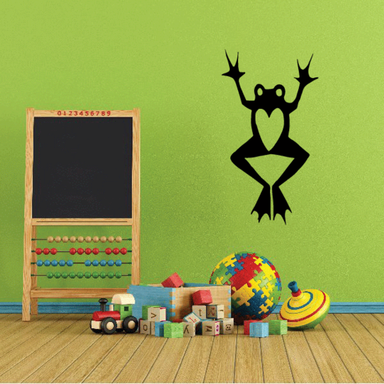 Heart Frog Decal