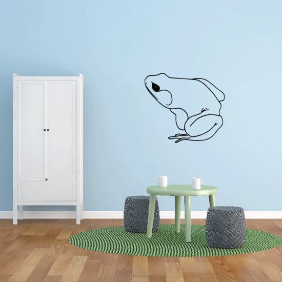 Squatting Frog Decal