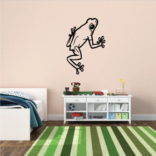 Walking Up Frog Decal