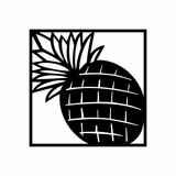 Pineapple in Square Decal