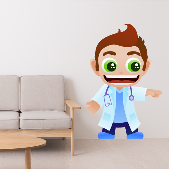 Laughing Doctor Sticker