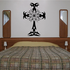 Tribal Cross with Flower Decal